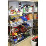 CABINET, 2-door, w/misc. shop supplies (Pasadena)