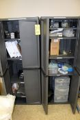 LOT OF CABINETS (2), w/misc. lab supplies (Pasadena)