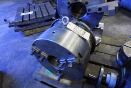 """ROTARY INDEXER, 15"""" dia. 3-jaw chuck, 5"""" hole"""
