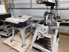 """LOT CONSISTING OF: Craftsman 10"""" table saw, radial arm saw (repariable), propane heater, (2) shop"""