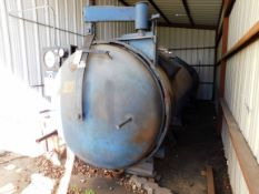 """AUTOCLAVE, CEDCO, 48"""" I.D. x 24'L., 100 PSI @ 450 deg., electric fired, Rapidoor, rail system w/"""