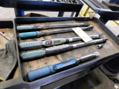 LOT OF TORQUE WRENCHES (5), w/roller cart