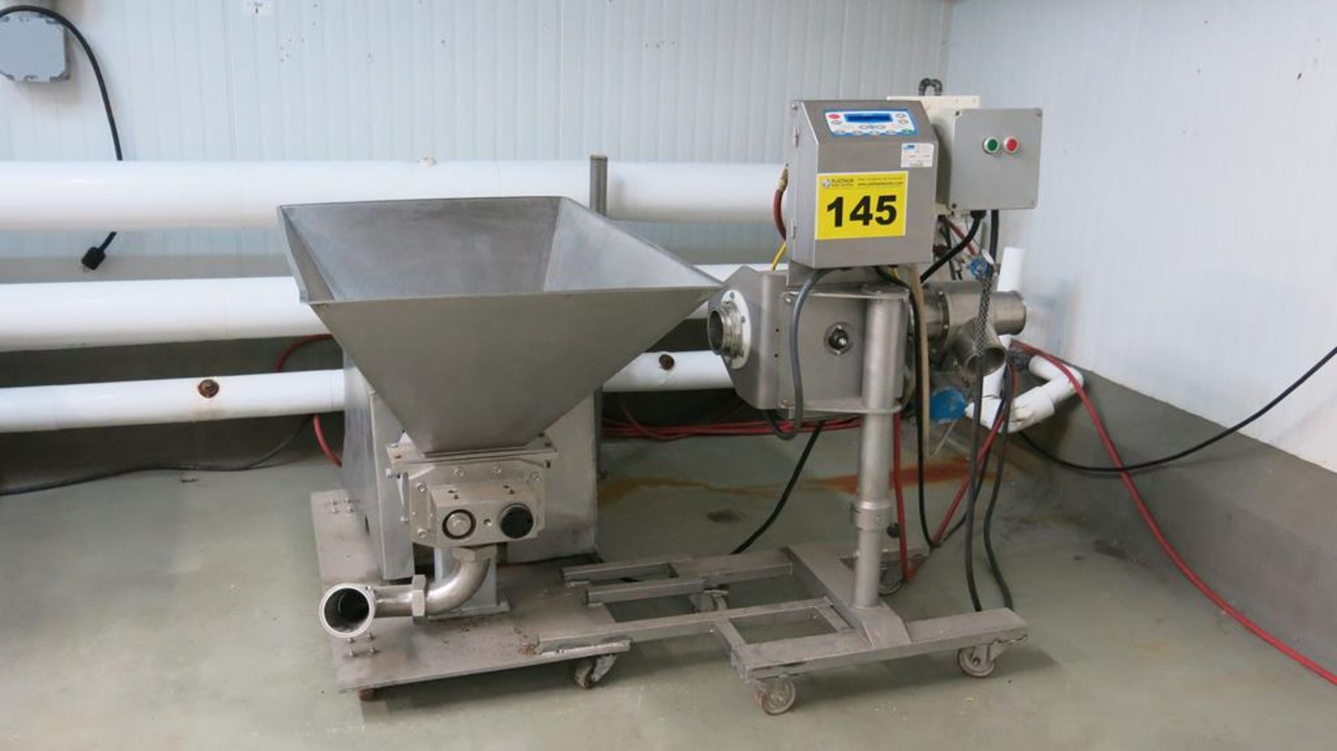 """Lot 145 - LOMA, IQ2, STAINLESS STEEL, PIPELINE, METAL DETECTOR, 4"""", S/N QP12033 WITH MEAT PUMP, 4.5"""" INLET /"""