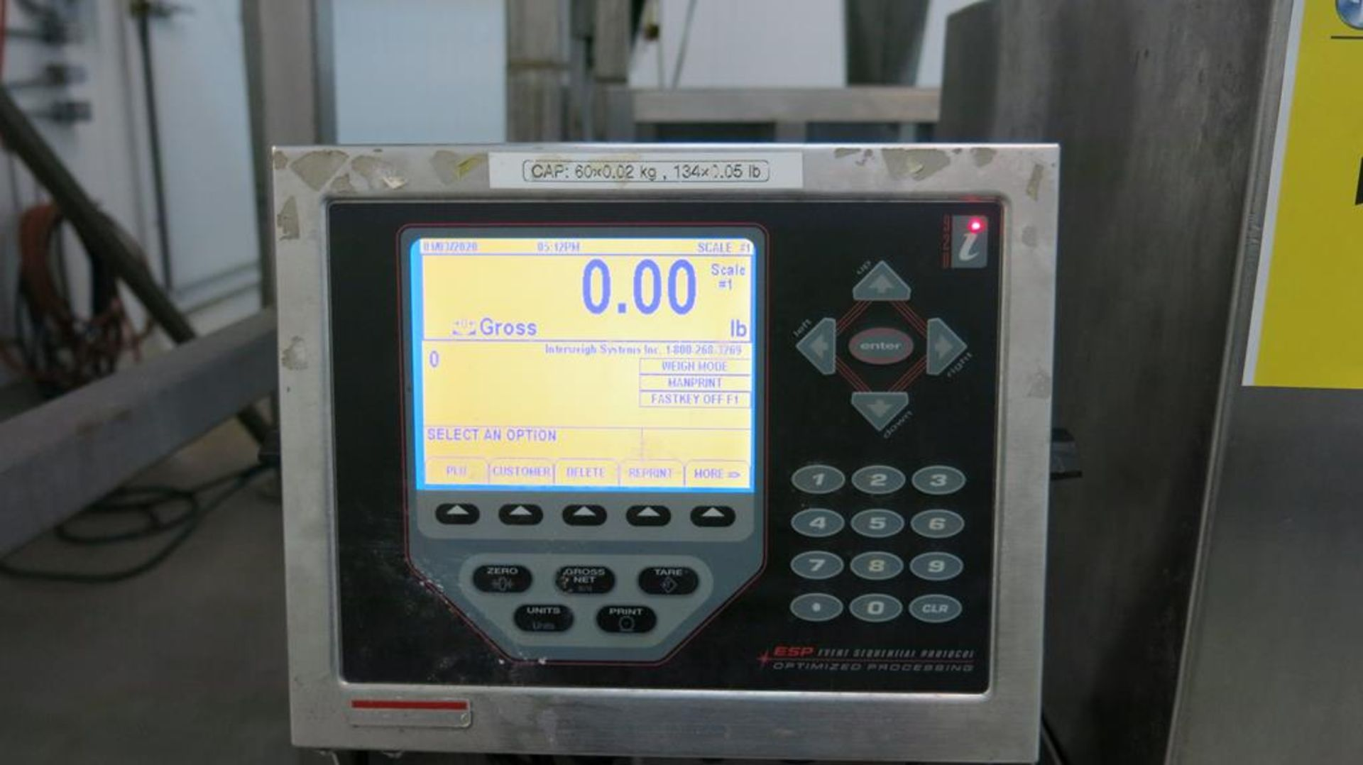 Lot 181 - RICE LAKE, 920I-2A, PROGRAMMABLE WEIGHT INDICATOR AND CONTROLLER ON STAND, S/N 14795600173