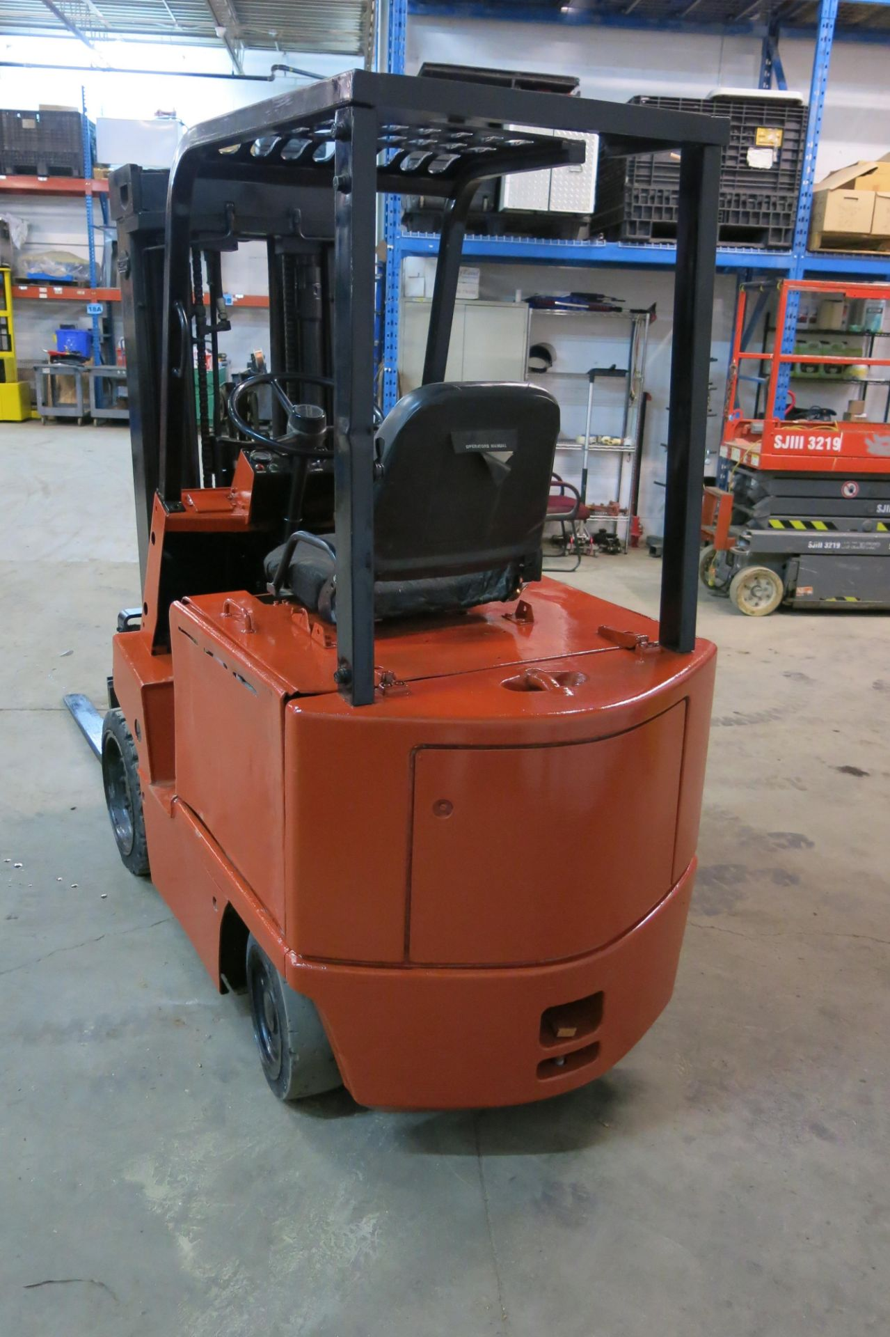 Lot 227 - NISSAN, CYB02L20S, 4,000 LBS, 3 STAGE, ELECTRIC FORKLIFT, CHARGER, 6,304 HOURS, S/N CY802-002260