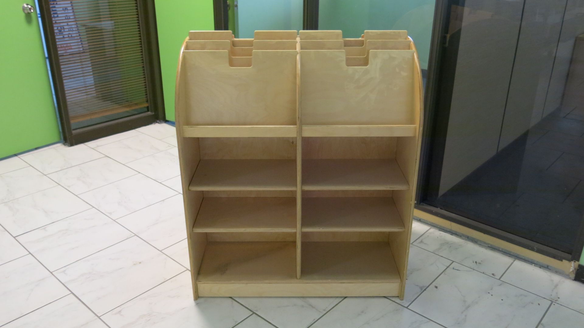 Lot 423 - WOODEN, MAGAZINE SHELF