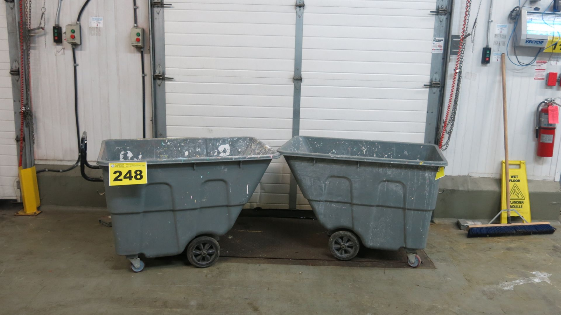 Lot 248 - LOT OF (2) TIPSTER BINS
