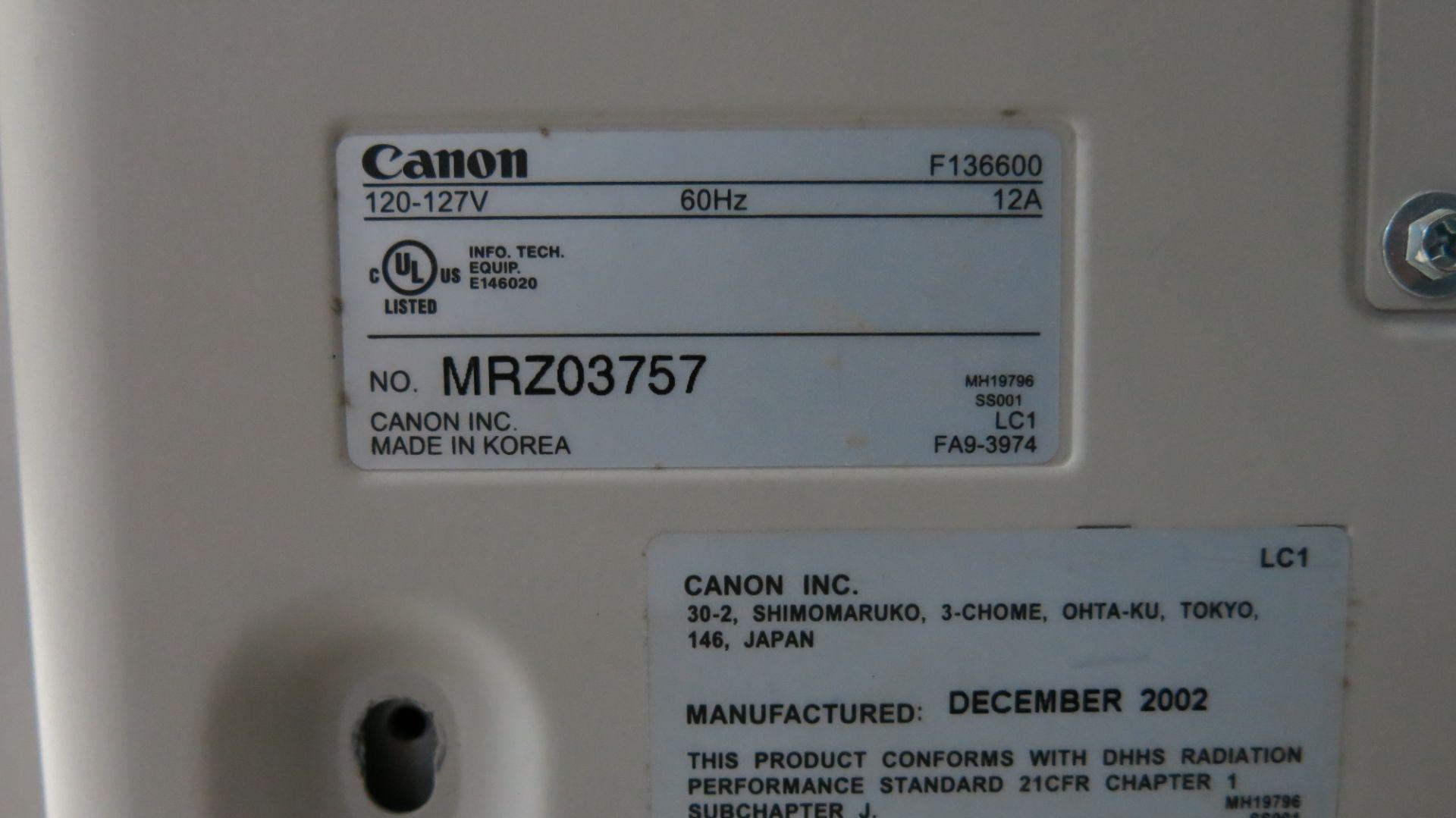 Lot 428 - CANON, F136600, MULTIFUNCTIONAL PHOTOCOPIER, S/N MRZ03757, 2002