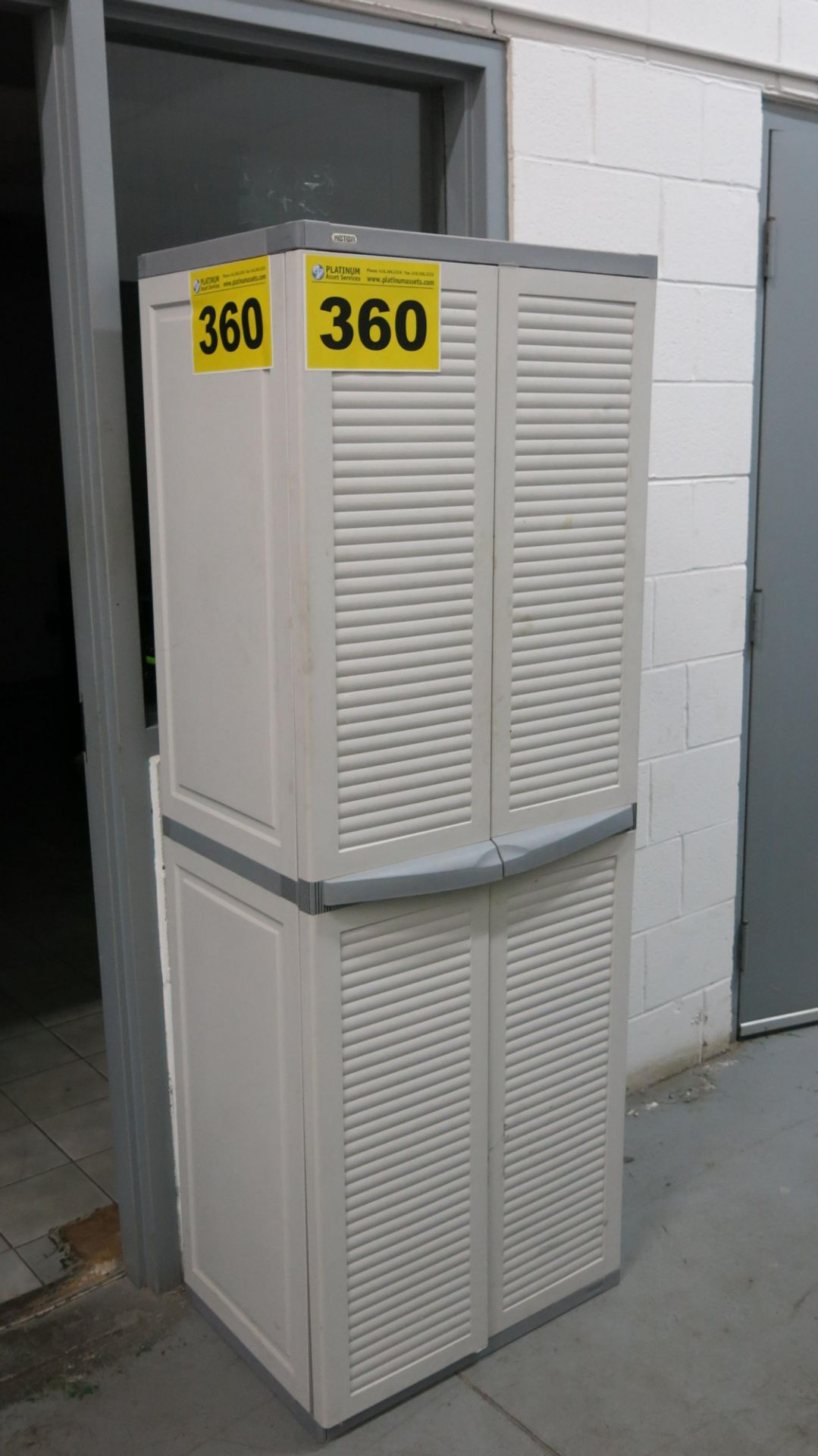 Lot 360 - TWO-DRAWER, PLASTIC CABINET