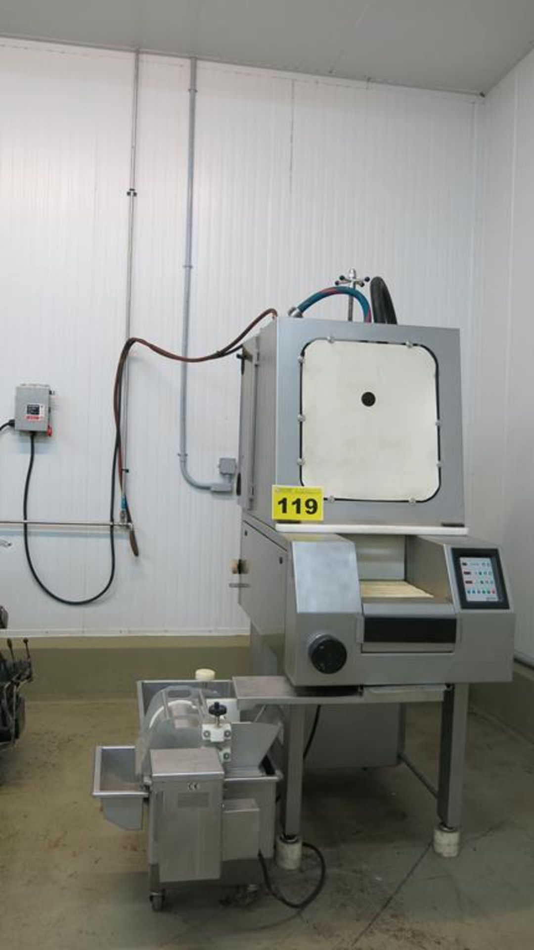 Lot 119 - GUNTHER, PI 58 / 99M, STAINLESS STEEL, 58 NEEDLE, BRINE INJECTOR WITH 200L, BRINE TANK WITH PUMP,