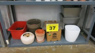 LOT OF ASSORTED POTS AND PLANTERS