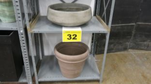 LOT OF (2) OUTDOOR PLANTERS