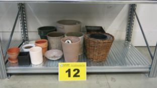 LOT OF ASSORTED POTS AND BASKETS