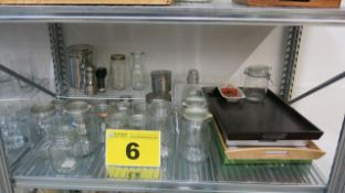 LOT OF ASSORTED MASON JARS AND KITCHEN ITEMS