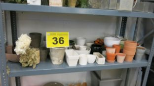 LOT OF ASSORTED POTS AND STORAGE CONTAINERS