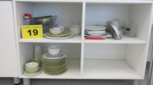 LOT OF ASSORTED DINING PLATES AND KITCHENWARE