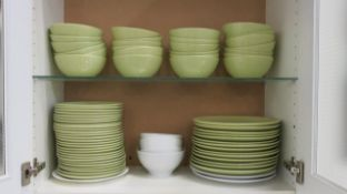 LOT OF DINING PLATES AND BOWLS
