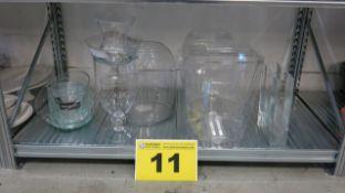 LOT OF ASSORTED GLASSWARE