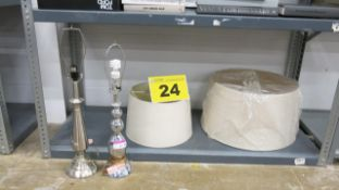 LOT OF (2) TABLE LAMPS
