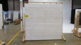 BARNBOARD WOOD BACKDROP ON CASTERS