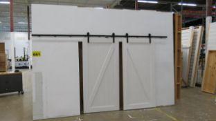 SET OF BARN DOORS WITH BARN DOOR HARDWARE