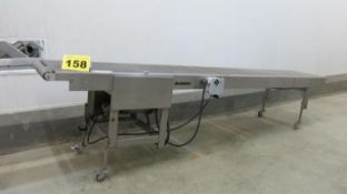 RONDO, STAINLESS STEEL, INCLINE CONVEYOR, 13' X 2', 220 VAC, 3 PHASE
