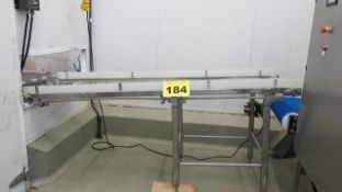 STAINLESS STEEL, CONVEYOR WITH VARIABLE SPEED CONTROL, 5' X 24""