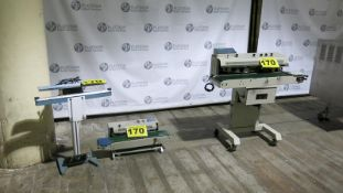 LOT OF (3) SEALING MACHINES - DBF, 1100, INK PRINTING CONTINUOUS SEALER, DBF, INK PRINTING, TABLE