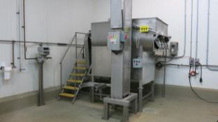 "RMF, 28-2000, STAINLESS STEEL, 40 CU FT, AGITATED RIBBON BLENDER, 24"" BLADE, WITH STEAM JACKET, 6' X"