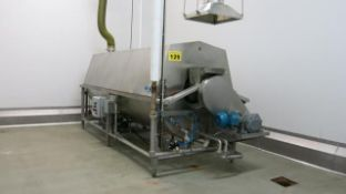 "HUGHES, STAINLESS STEEL, CONTINUOUS, ROTARY, HOT WATER BLANCHER, 80"" x 202"" x 87"" (RIGGING $1500)"