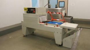 CHANGZHOU GUANGMING, FQS-450, L-BAR SEALER WITH HEAT SHRINK TUNNEL (RIGGING $150)