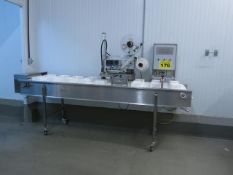 ID TECHNOLOGY, TAMP L250, LABEL PRINTER / APPLICATOR WITH CONVEYOR, S/N R114191601, 2014 (RIGGING $