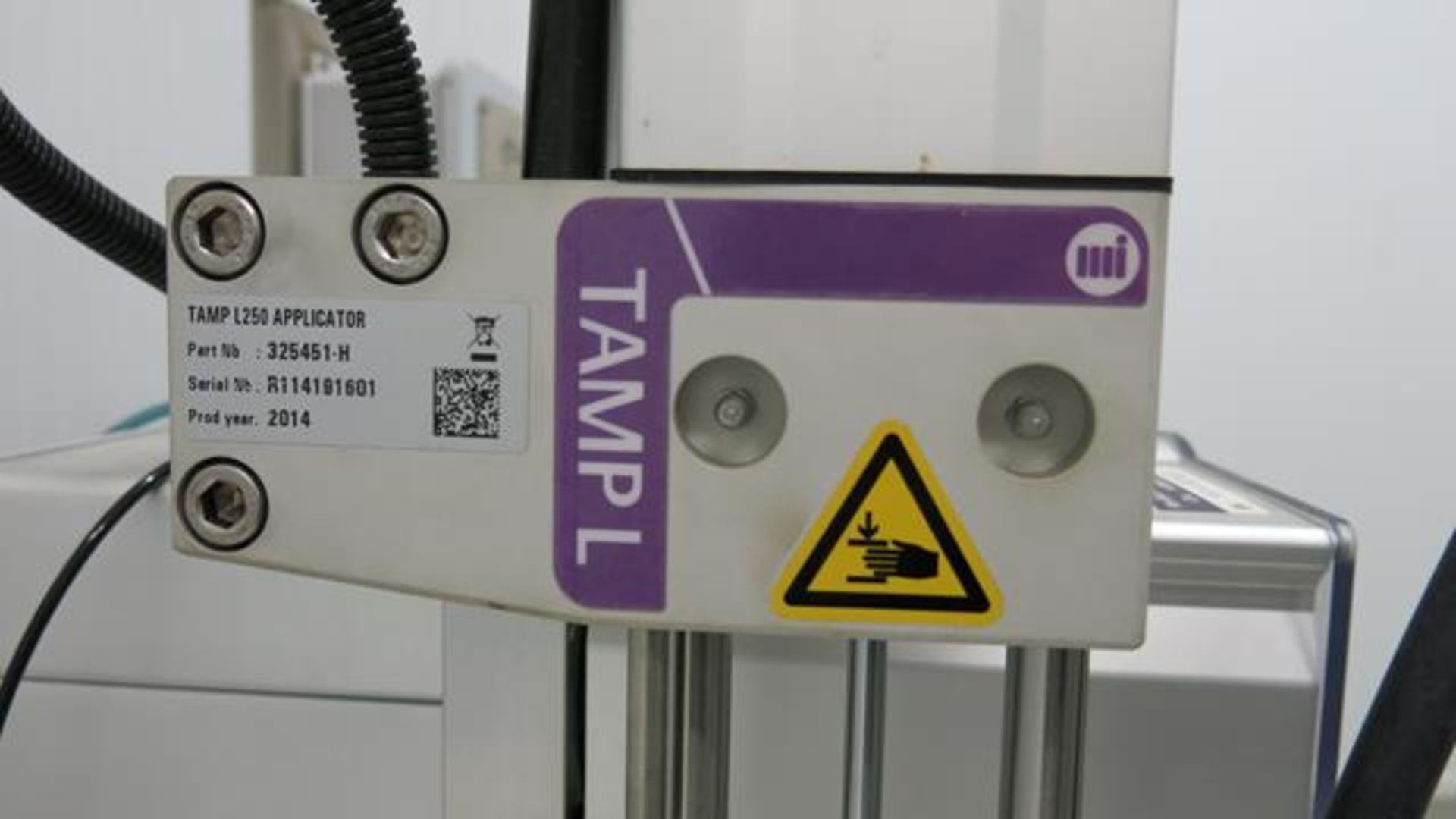 Lot 176 - ID TECHNOLOGY, TAMP L250, LABEL PRINTER / APPLICATOR WITH CONVEYOR, S/N R114191601, 2014 (RIGGING $