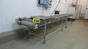 STAINLESS STEEL, CONVEYOR, 20' X 2', 575 VAC, 3 PHASE