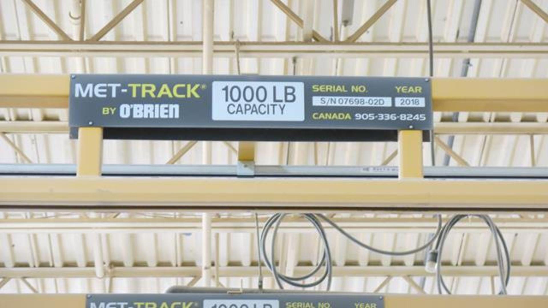 Lot 923 - O'BRIEN, MET TRACK FREE STANDING, FOUR STATION, WORKSTATION BRIDGE CRANE