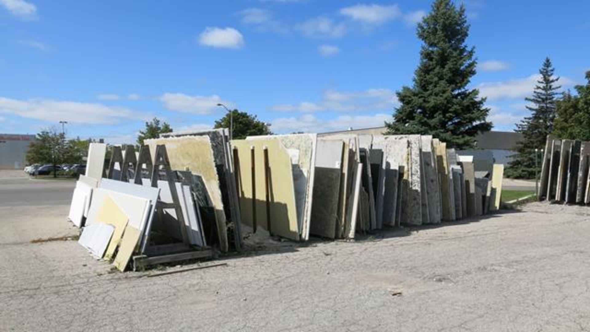 Lot 919 - (500+) SLABS OF QUARTZ, PORCELAIN, MARBLE AND GRANITE