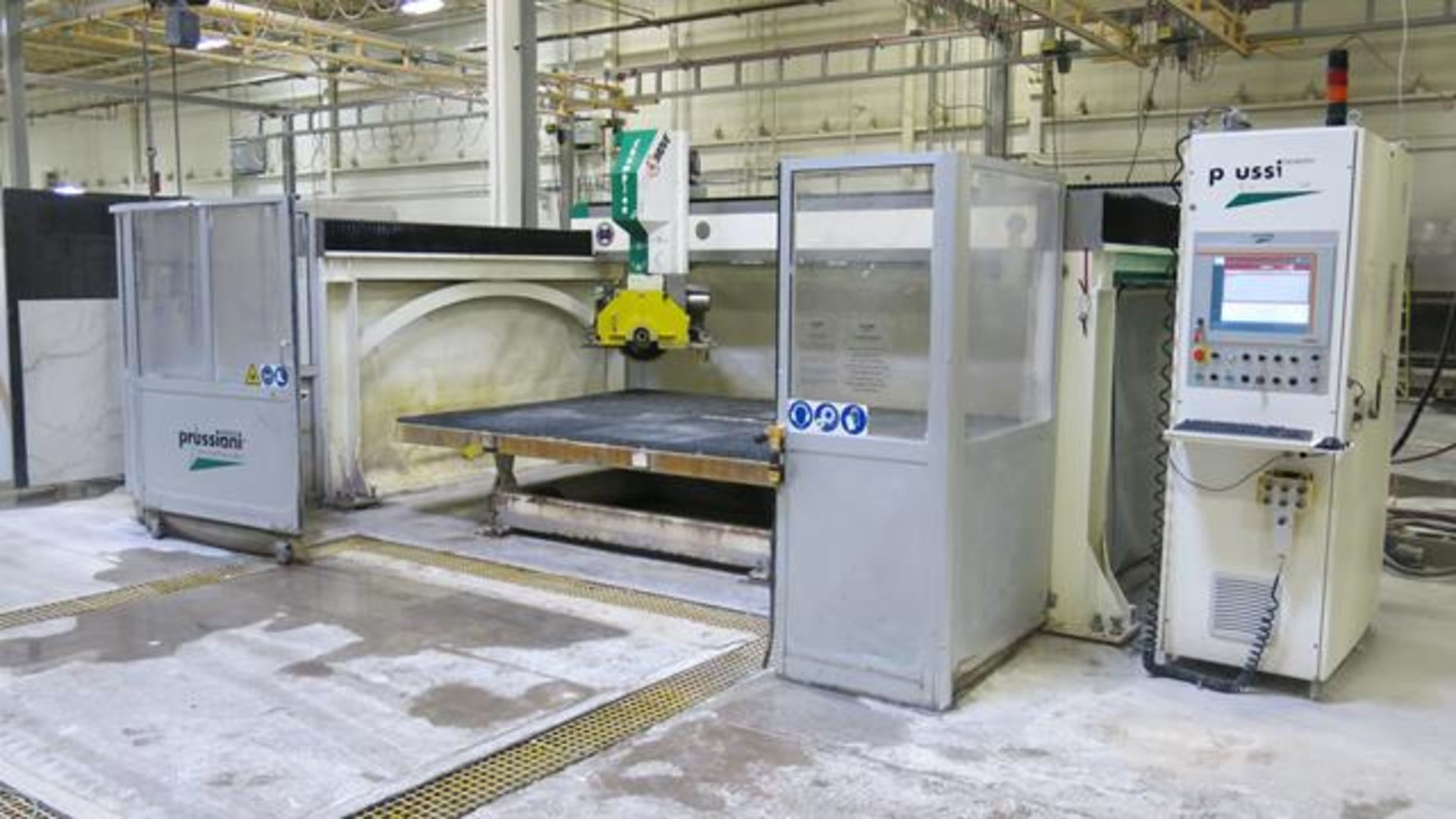 Lot 220 - PRUSSIANI, CHAMPION 60, CH60 TAG, CNC 5-AXIS, BRIDGE SAW, 25' X 35', 3,593 HOURS, S.N 685, 2014