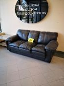 BLACK THREE SEATER LEATHER COUCH