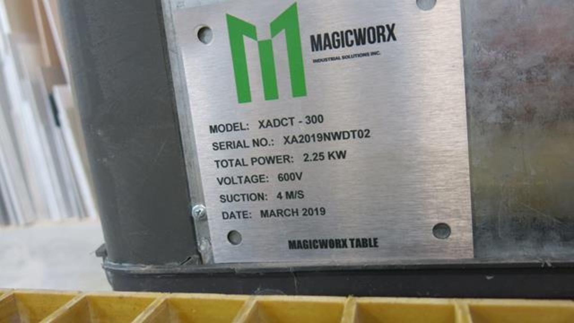 Lot 916 - MAGICWORX, XADCT-300, DOWNDRAFT TABLE, S/N XA2019NWDT02, 2019
