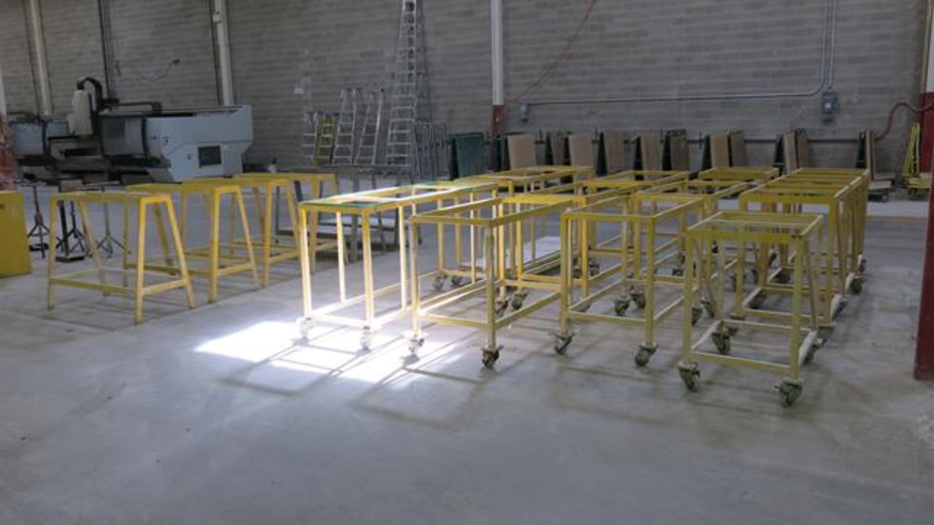 Lot 921 - LARGE QUANTITY OF ROLLING CARTS