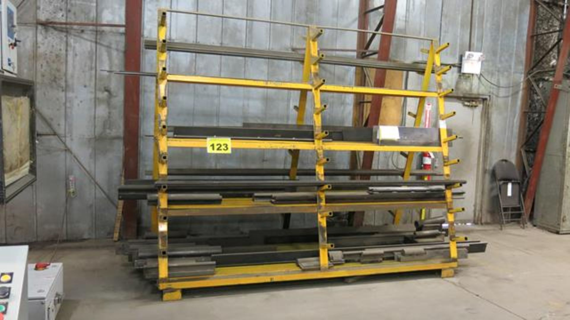 STEEL, DOUBLE SIDED, STORAGE RACK, 10' X 8' X 4' (CONTENTS NOT INCLUDED) (LATE DELIVERY)