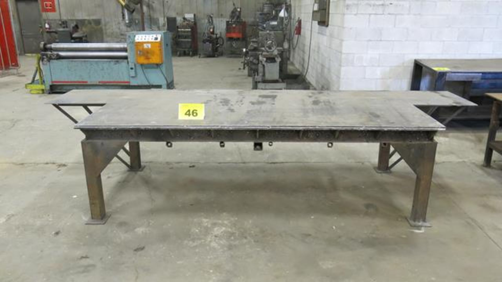Lot 46 - STEEL, WORK BENCH, 8' X 4' X 3'