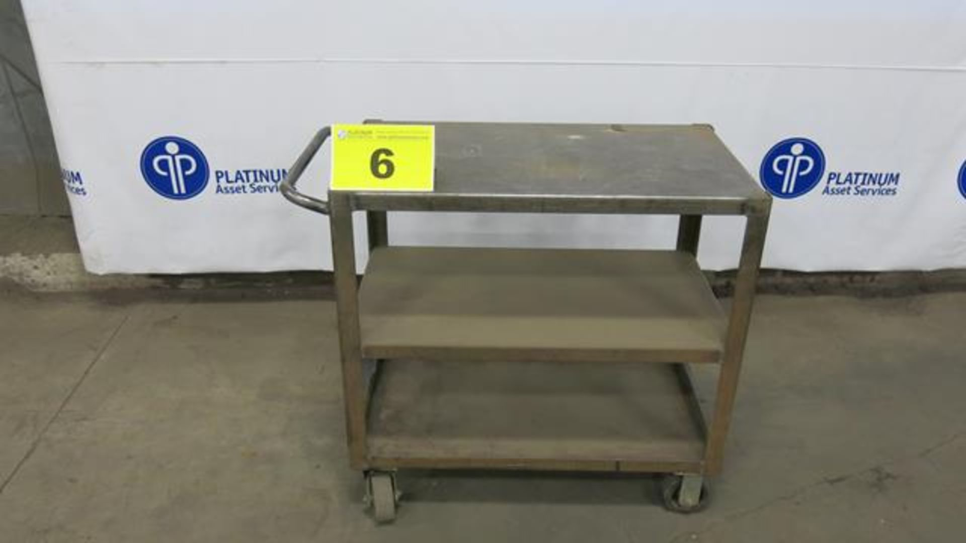 "Lot 6 - STEEL, ROLLING WORK BENCH, 20"" X 36"" X 36"""
