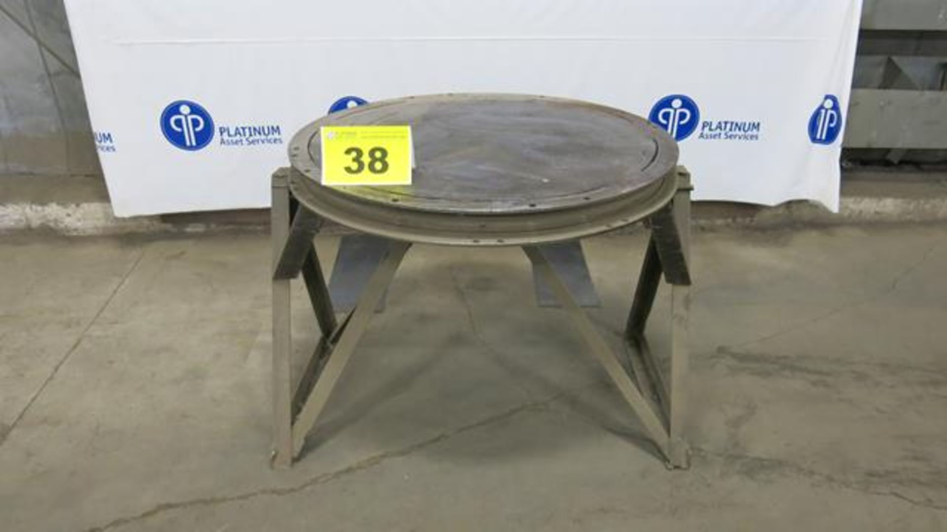Lot 38 - STEEL, CIRCULAR, MATERIAL SUPPORT FRAME, 4'