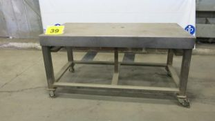 STEEL, ROLLING WORK BENCH, 5' X 3' X 3'