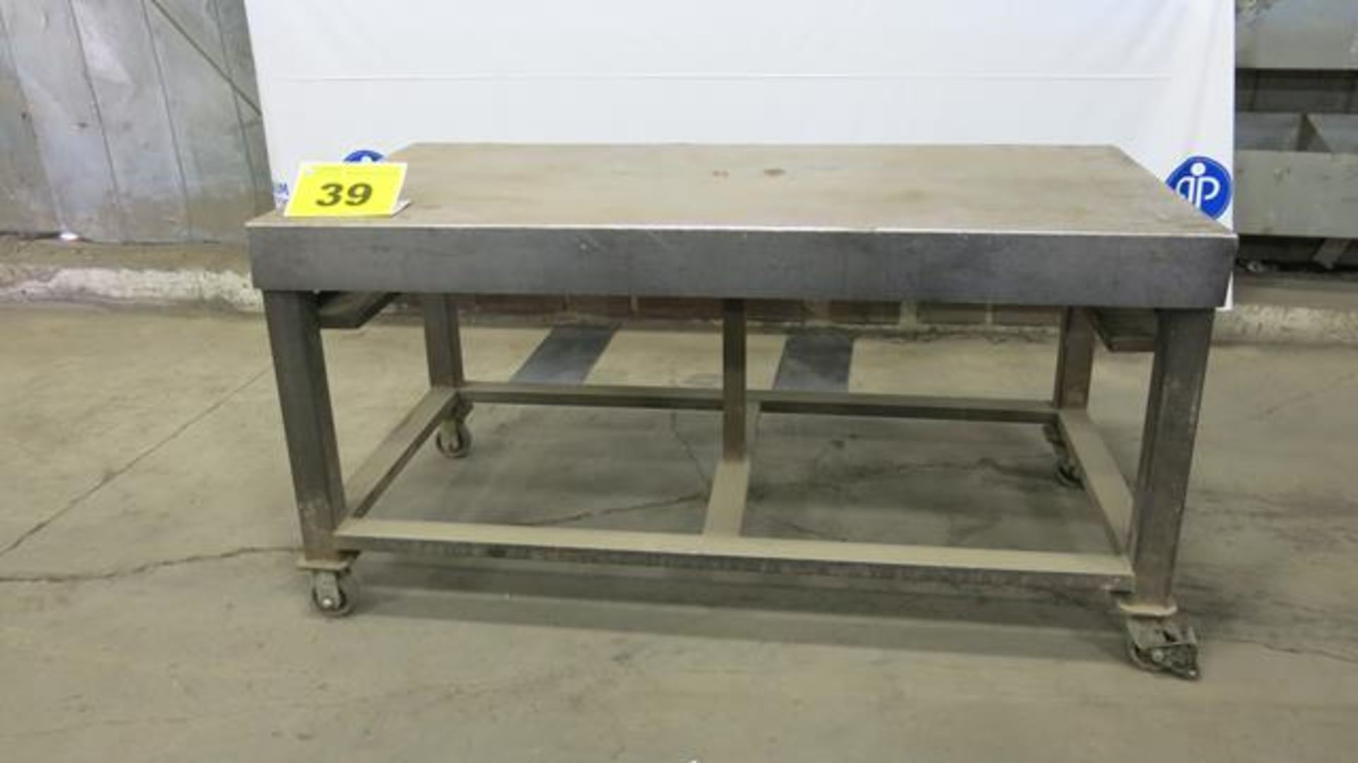 Lot 39 - STEEL, ROLLING WORK BENCH, 5' X 3' X 3'