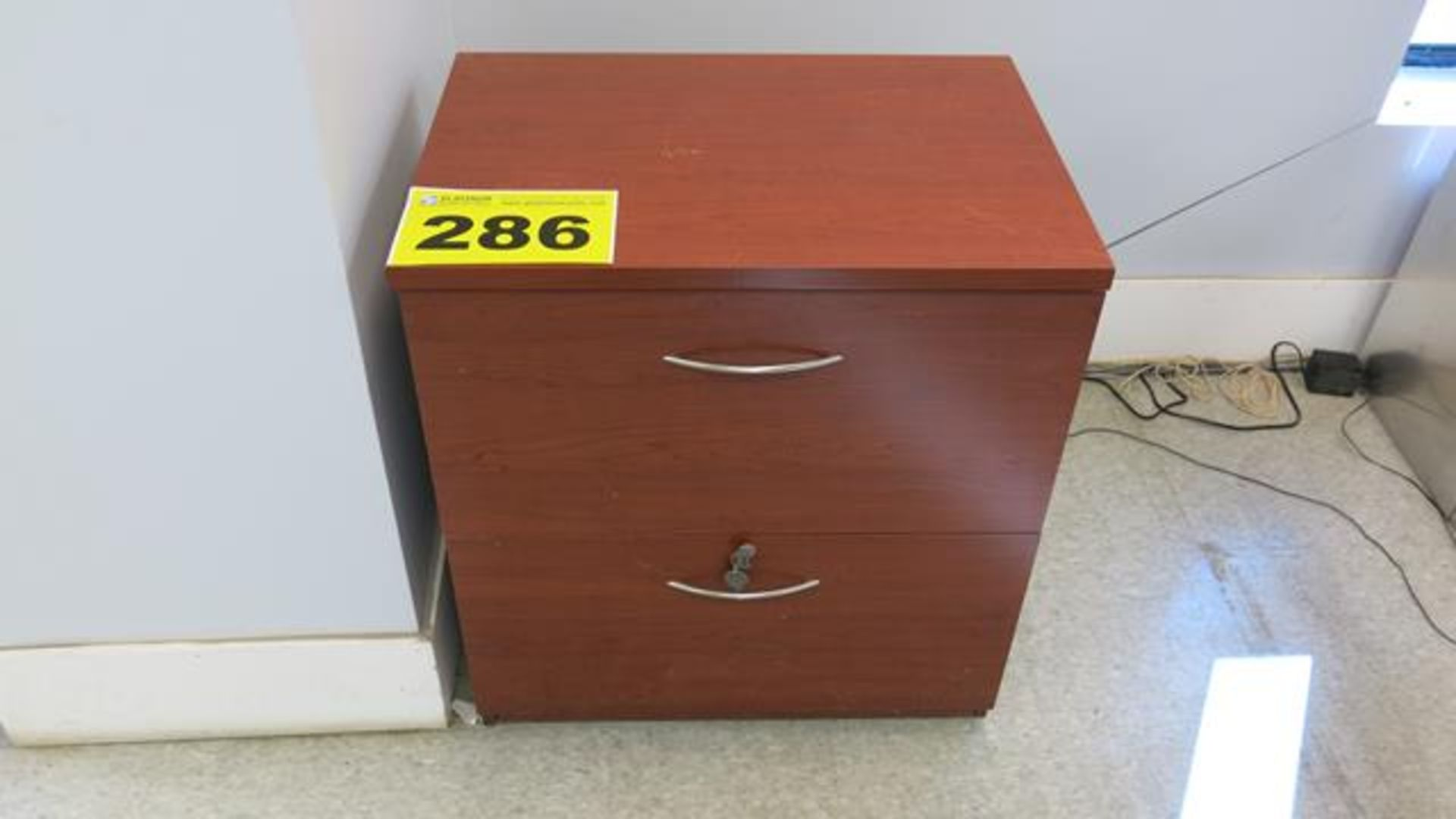 TWO DRAWER, WOOD CABINET