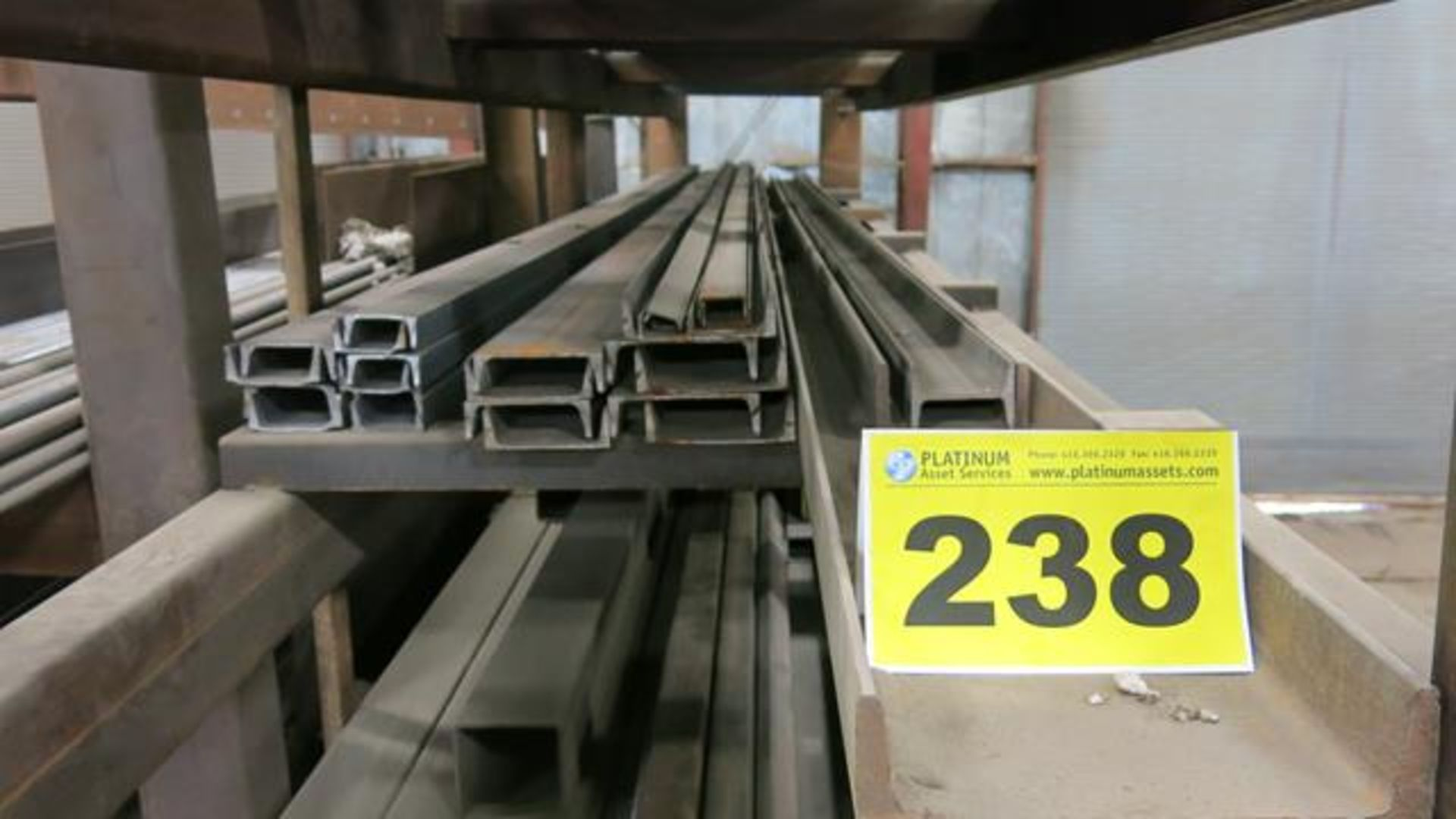 "LOT OF (20) PIECES OF C-CHANNEL BAR COMPRISED OF: (6) C-CHANNEL BARS, 16' X 2"", (4) C-CHANNEL"