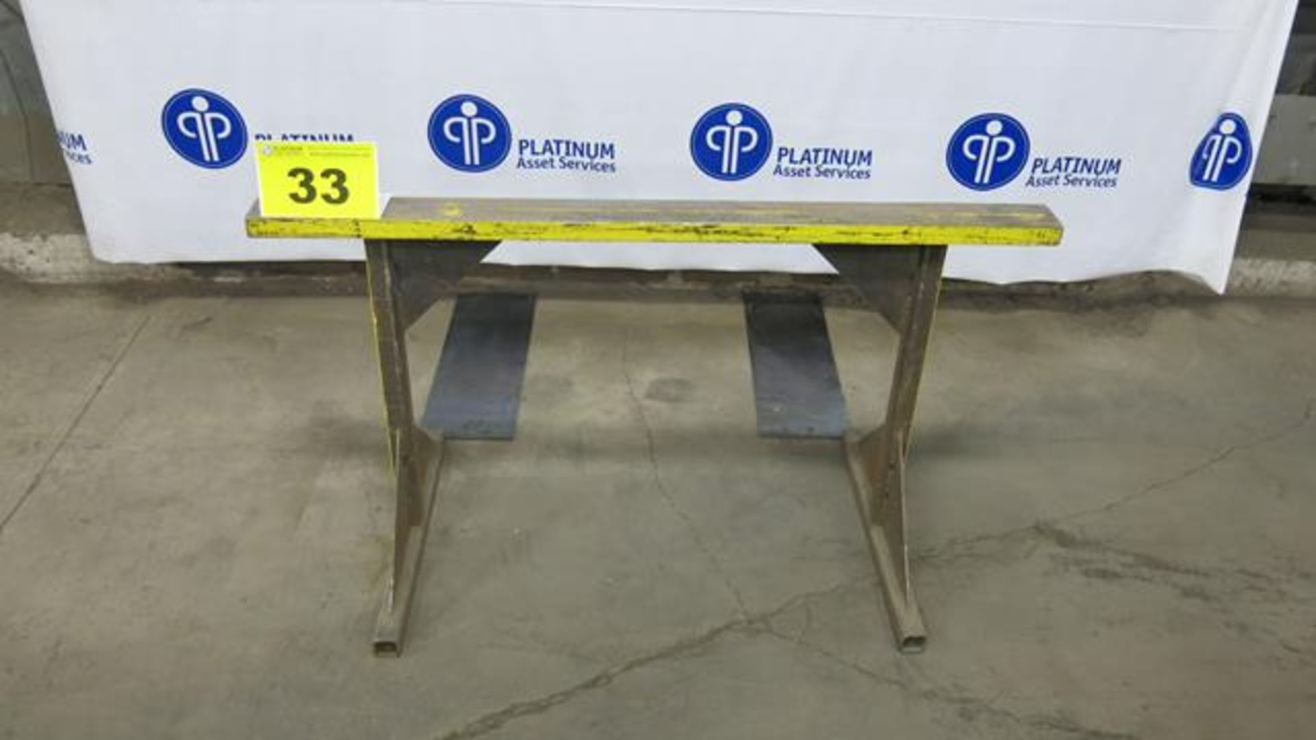 """Lot 33 - STEEL, MATERIAL SUPPORT FRAME, 32"""" X 60"""""""