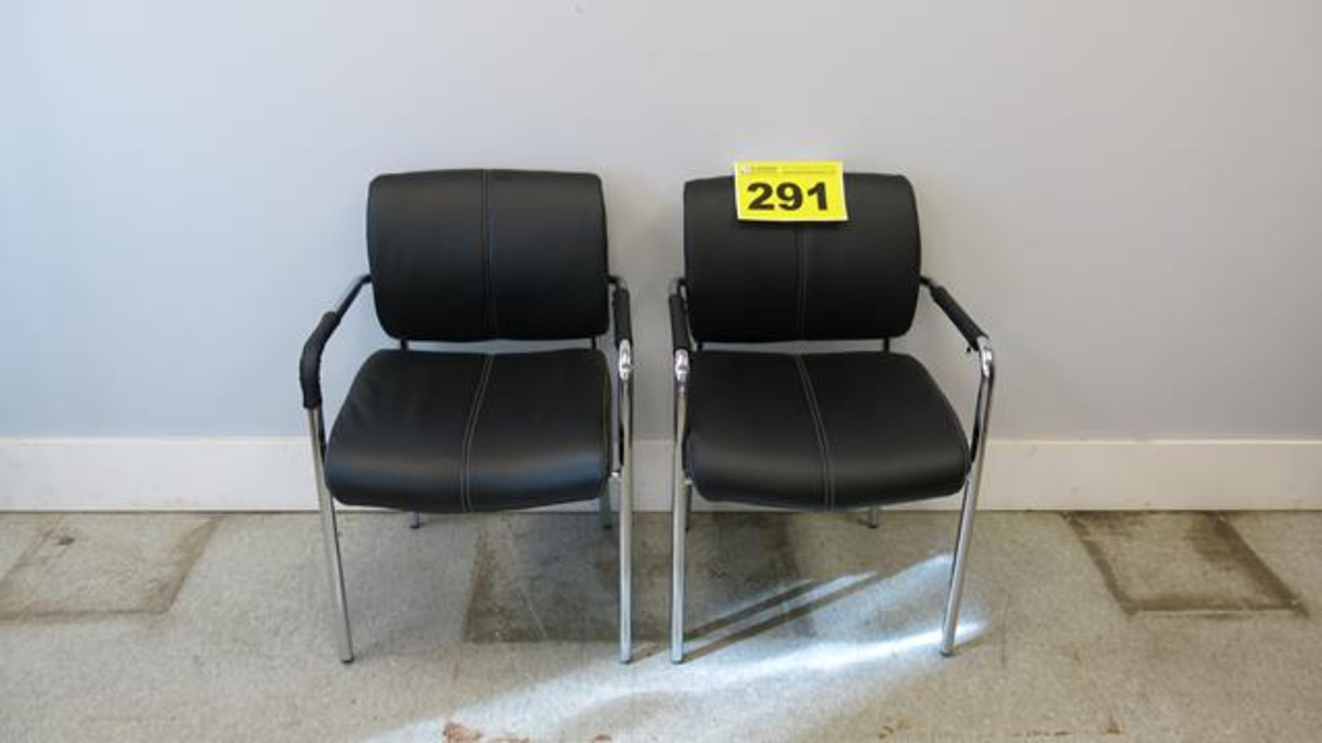 LOT OF (2) LEATHER, OFFICE CHAIRS